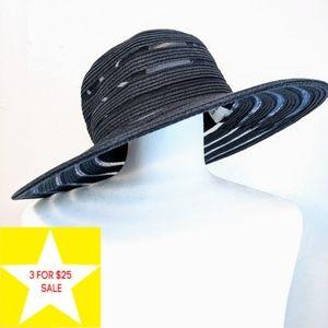 Nine West | Navy Blue Straw Sun Hat